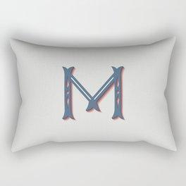 The Letter M Rectangular Pillow