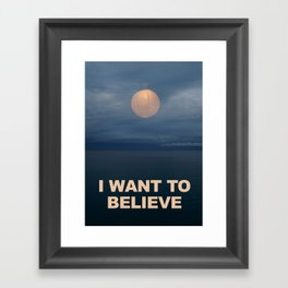I WANT TO BELIEVE - IKEA RMX Framed Art Print
