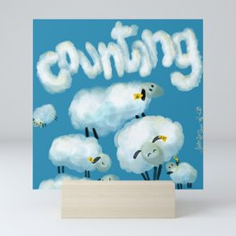 Counting sheep Mini Art Print