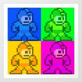 Mega Man Pop Art Art Print
