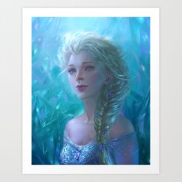 Frozen Elsa Art Print