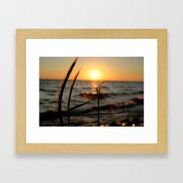 Michigan sunset Framed Art Print