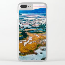 Organic kaleidoscope ~ Breathtaking Mountain Time sunset view from a window seat. Clear iPhone Case