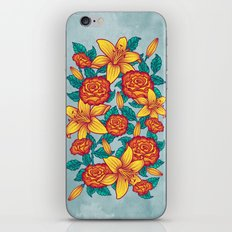 Flowers - Red iPhone & iPod Skin