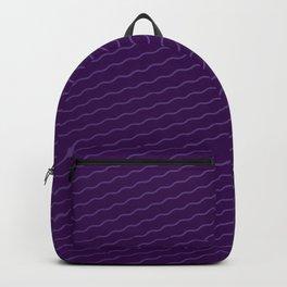 purple wave background Backpack