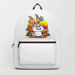 Easter Bunny   Happy Easter Juggling Eggs Backpack