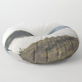Fly Fishing Iceland Floor Pillow