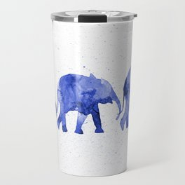 Blue elephants Travel Mug