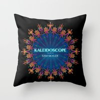 book cover Throw Pillows featuring Kaleidoscope Art Book Cover by Sam Skyler