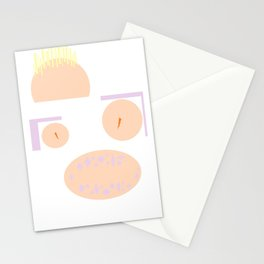 Pastel smiley Stationery Cards