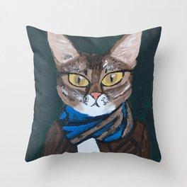 Elvis the Cat Throw Pillow