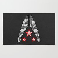 "n7 Area & Throw Rugs featuring ""My Favorite Things"" Alliance by Helenasia"