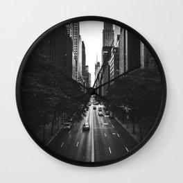 New York City (Black and White) Wall Clock