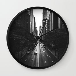 New York City (Black and White) Wall Clock