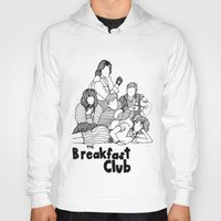breakfast club Hoodies featuring The Breakfast Club by Claire Coleman