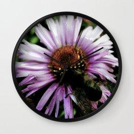 Bee a flower Wall Clock
