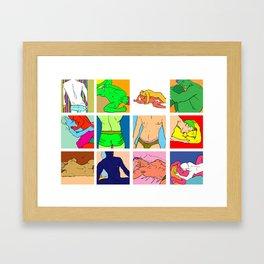 Pop Men VI Framed Art Print