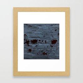 Textured Brick Blue Framed Art Print