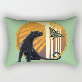 Jaguar Plain Art Deco Rectangular Pillow