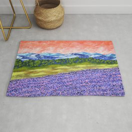 Fields of Lavender Rug