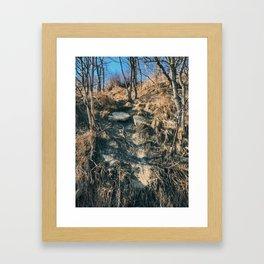 The collapsed road Framed Art Print