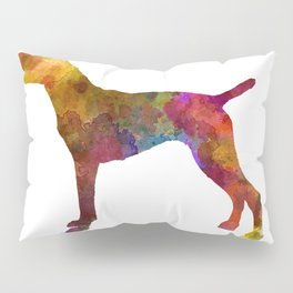 German Shorthaired Pointer in watercolor Pillow Sham