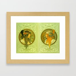 "Alphonse Mucha ""Byzantine Heads: The Blonde and The Brunette"" Framed Art Print"