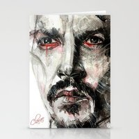 johnny depp Stationery Cards featuring Johnny Depp by KlarEm
