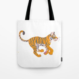 Running Bengal Tiger Tote Bag