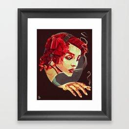 """Smoking Princess"" Framed Art Print"