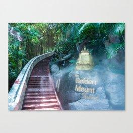 Wat Saket (Temple of the Golden Mount), Bangkok, Thailand Canvas Print