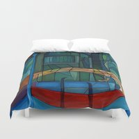 venice Duvet Covers featuring Venice by Noura Bouzo