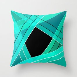 Turquoise silk Throw Pillow