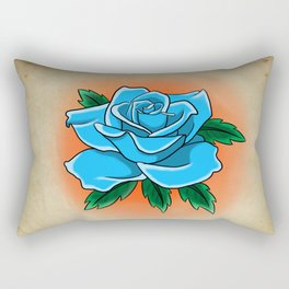 Blue rose tattoo flash Rectangular Pillow