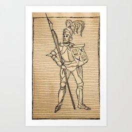 Knight of Knowledge Art Print