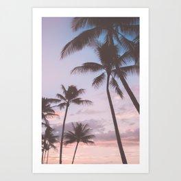 Pastel Palm Trees Art Print
