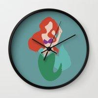 ariel Wall Clocks featuring Ariel by Polvo