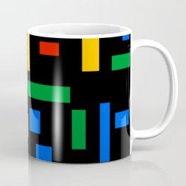 Abstract Google Art Red Green Blue Yellow on Black Coffee Mug