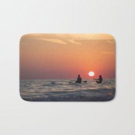 sunset on the ocean Bath Mat