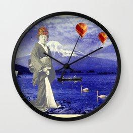 THE QUEEN OF MT. FUJI Wall Clock
