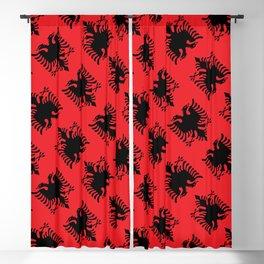 Albanian flag pattern Blackout Curtain