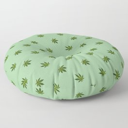 Cannabis Leaf (Mini) - Sage Floor Pillow