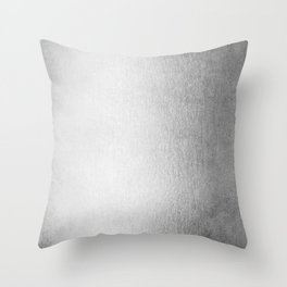 Moonlight Silver Throw Pillow