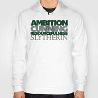 slytherin Hoodies featuring Slytherin by Fanboy's Canvas