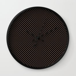 Black and Carafe Polka Dots Wall Clock