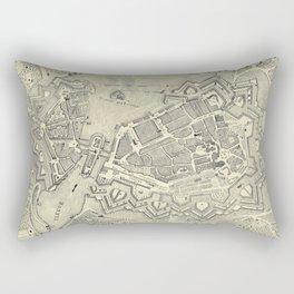 Vintage Map of Geneva Switzerland (1825) Rectangular Pillow