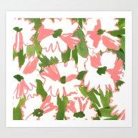 August Floral Art Print