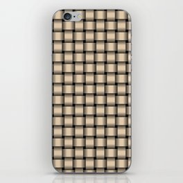Small Bisque Brown Weave iPhone Skin
