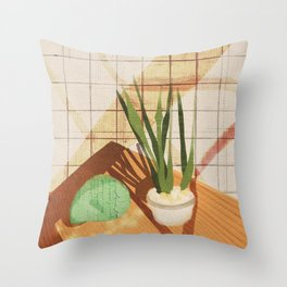 Saturday Cooking Throw Pillow
