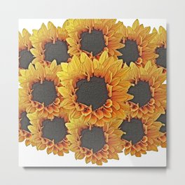 Sunflower Collaboration Metal Print